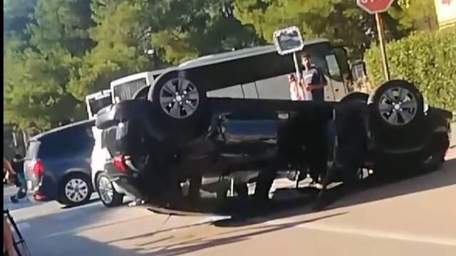 Sudar u Zadru: Nije stao na znak stop i pogodio drugi auto