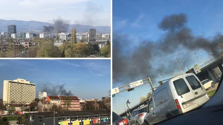 Veliki požar izbio u Zagrebu: 'U zrak je sukljao gusti, crni dim'