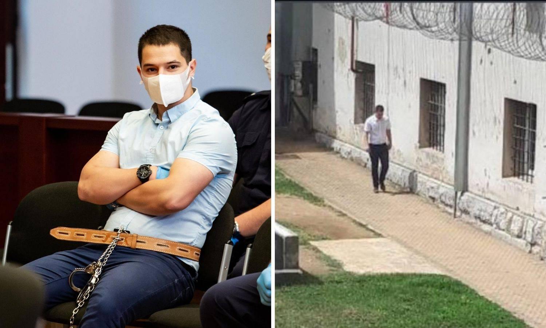 Ubojica Filip Zavadlav u krugu gospićkog zatvora šeće sam i razgovara sam sa sobom