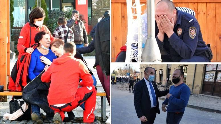 Lica tuge: Potres je Petrinju i Majske Poljane zavio u crno