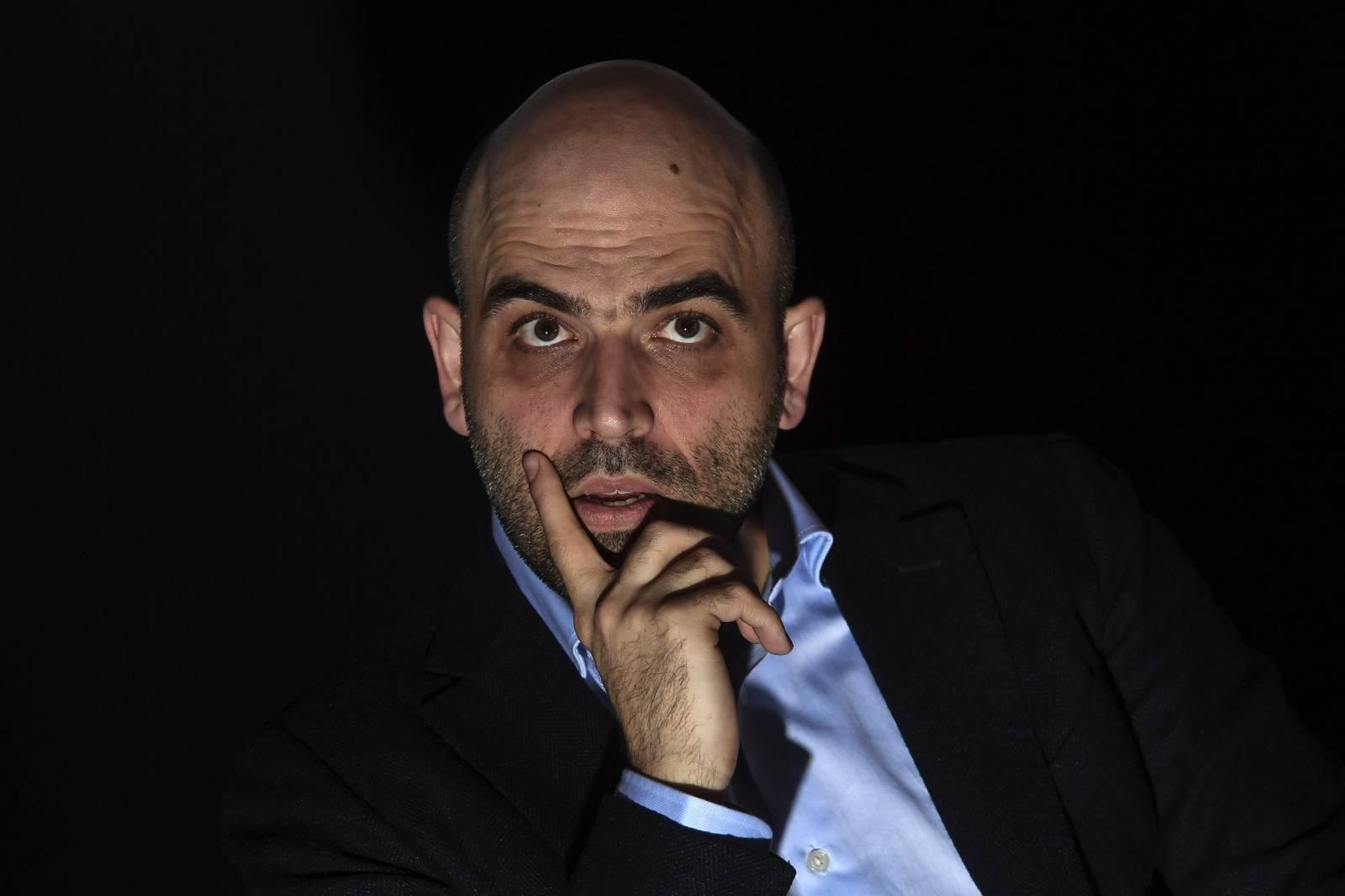 Roberto Saviano at the presentation of the film the children's paranza