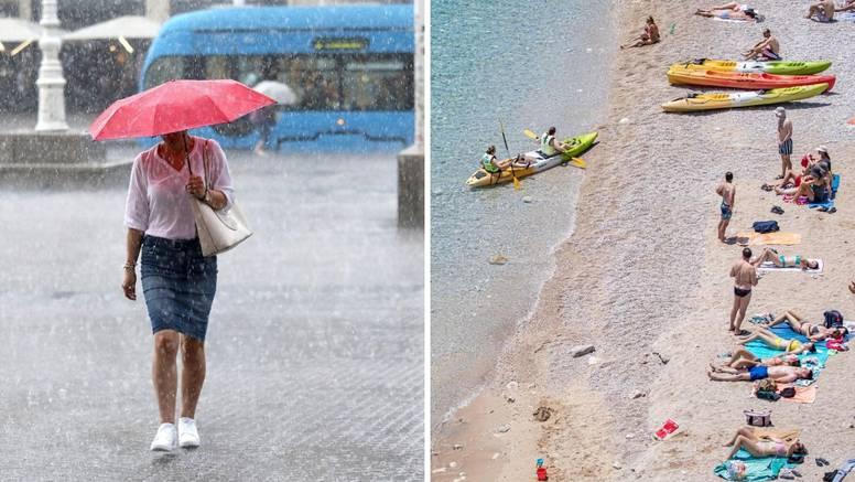 Još danas vruće, u ponedjeljak nova promjena. Pljuskovi i pad temperature, ali ne posvuda