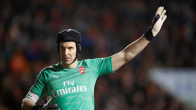 FILE PHOTO: Arsenal's Petr Cech at Bloomfield Road, Blackpool, Britain - January 5, 2019
