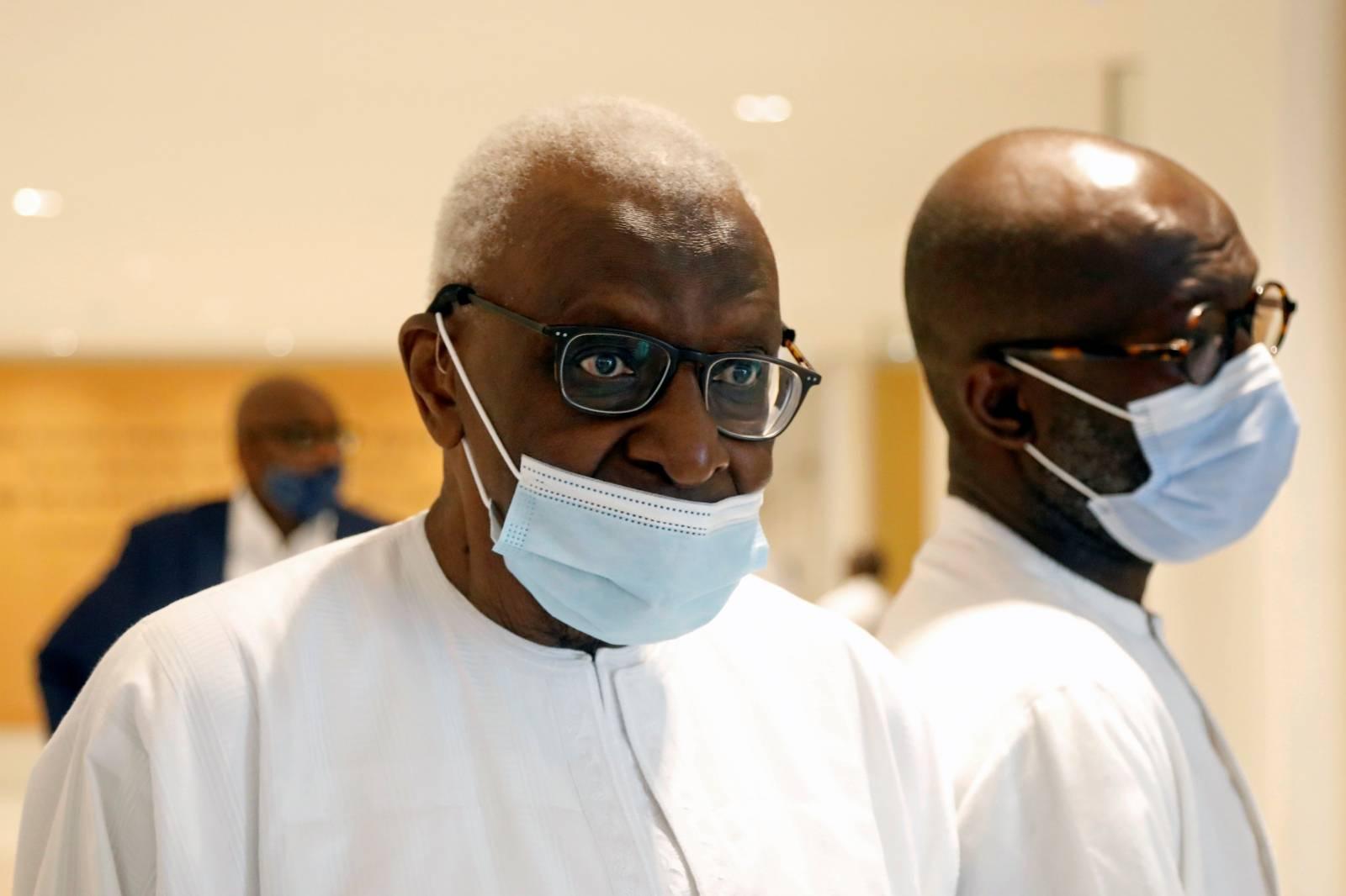 Former IAAF President Lamine Diack attends trial in Paris