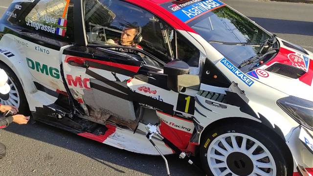 Ogier se nakon nesreće odvezao na utrku s oštećenim vratima