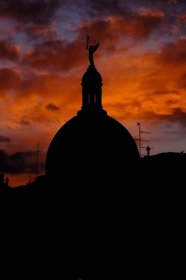 Zagreb: Zalazak sunca iznad Tomislavca