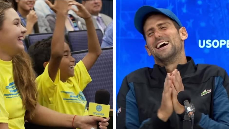 Dječak imitirao Đokovića te ga nasmijao do suza: Najbolji si!