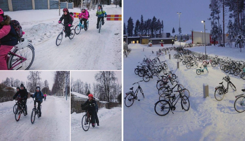 Djeca u Finskoj voze bicikle do škole na temperaturi od -17