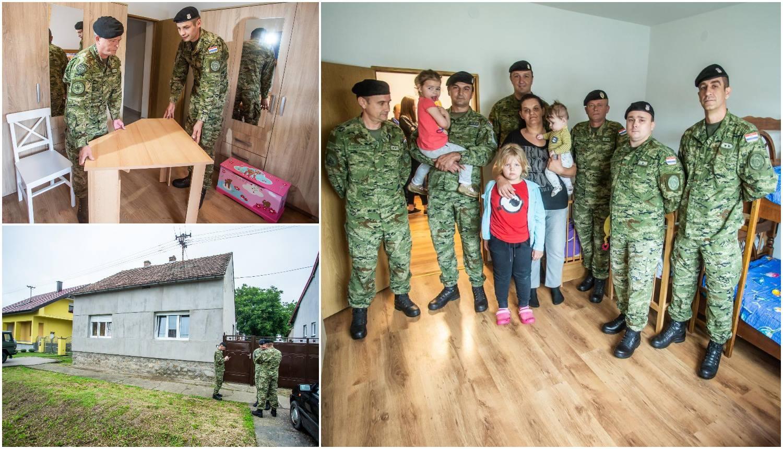 'Zimi smo spavali u jednoj sobi da se ugrijemo': Samohranoj majci vojska je preuredila dom