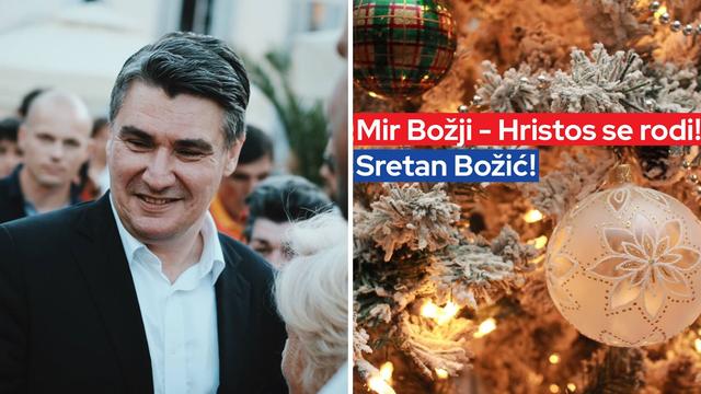 Milanović čestitao Božić: 'Neka poruke mira ispune vaše kuće'