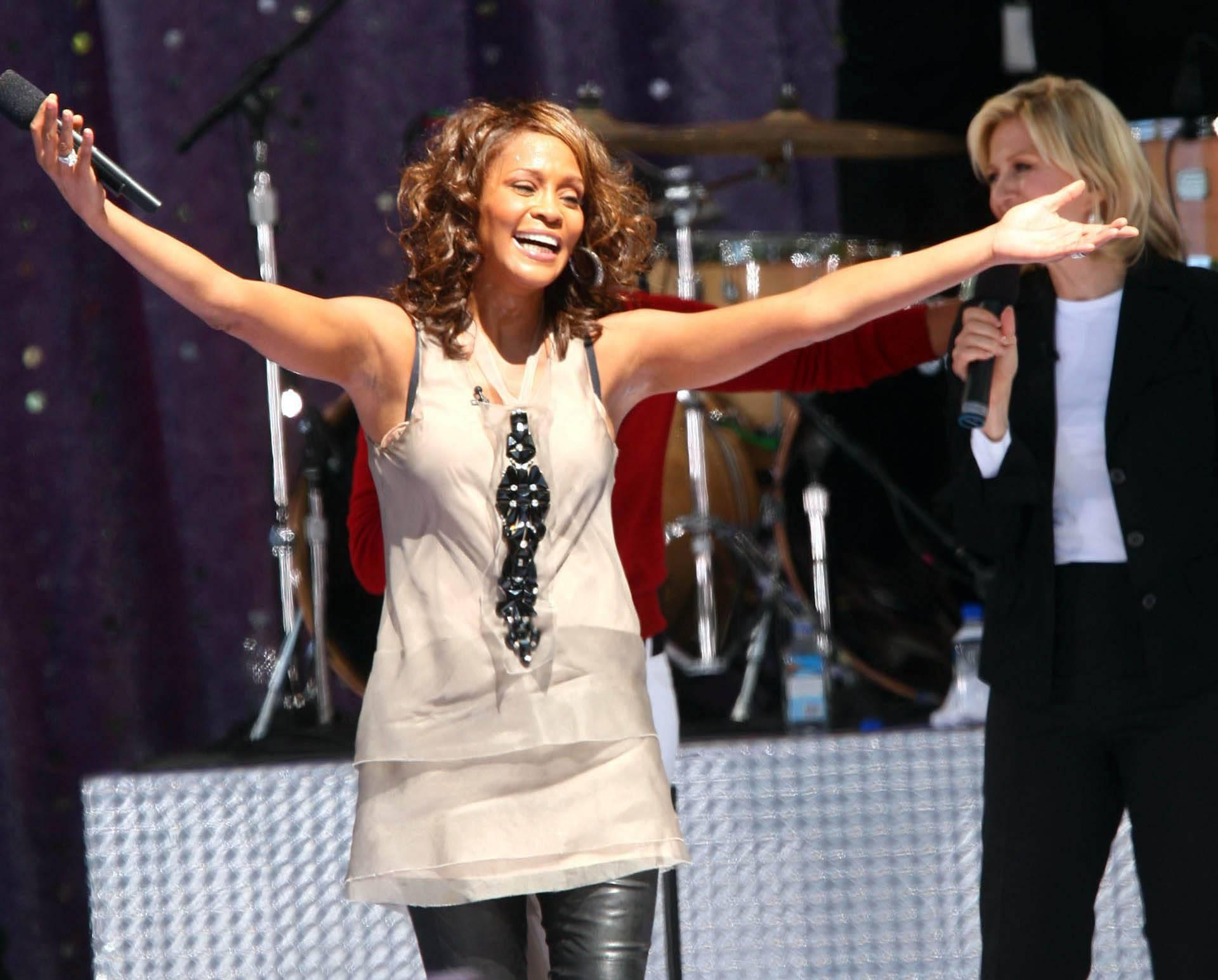 Whitney Houston performs - New York