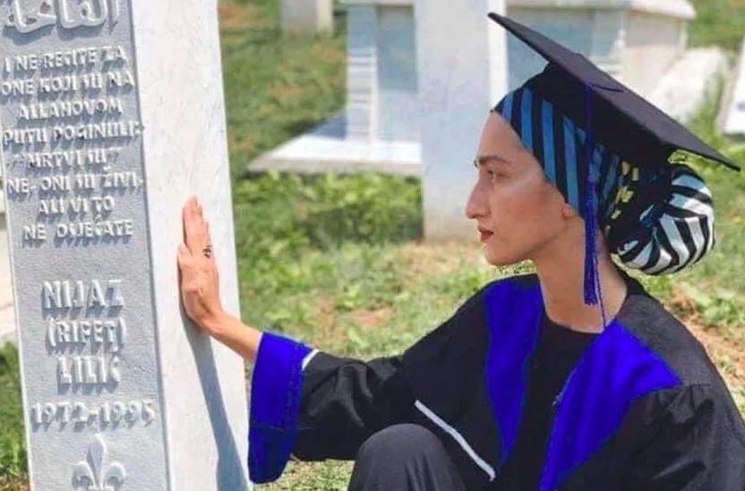 Bolna fotografija: Došla je reći tati na grob da je diplomirala...