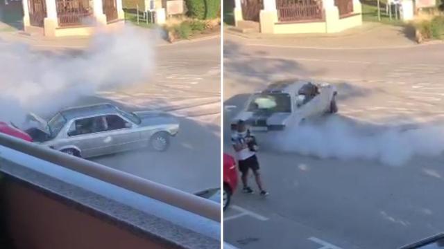 VIDEO Divljao autom po trgu, udario drugi auto i pobjegao: 'Samo srećom nije nikoga ubio'