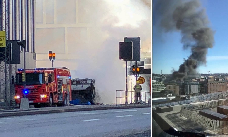 Panika u Stockholmu: Usred grada eksplodirao je autobus