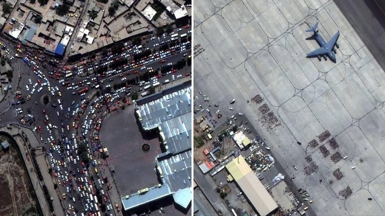 Kaos na aerodromu u Kabulu: Pogledajte satelitske snimke