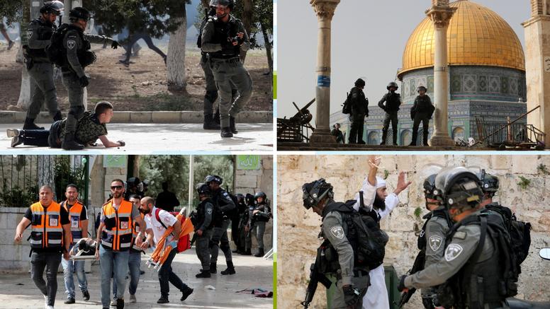 Stotine ozlijeđenih  Palestinaca u novim sukobima s izraelskom policijom na Platou džamija