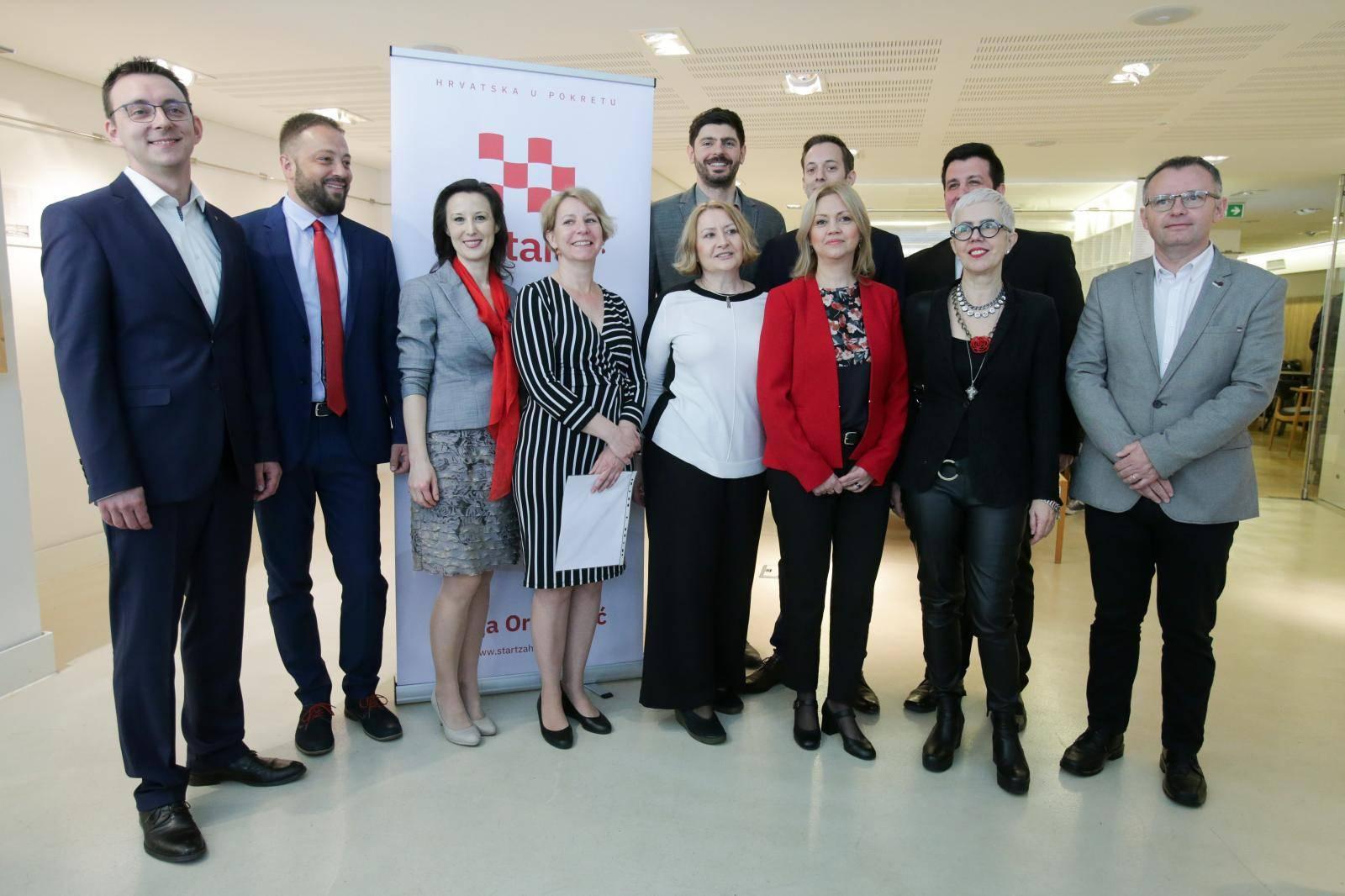 Zagreb:  Predstavljanje liste kandidata stranke Start za izbore Europskog parlamenta