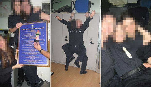 Pijani policajci diraju se dildom u kaštelanskoj postaji. Mačuju se pivama u gaćama. Slike su tu