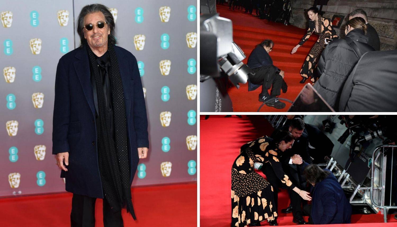 Popiknuo se pa poljubio pod: Al Pacino pao na crvenom tepihu