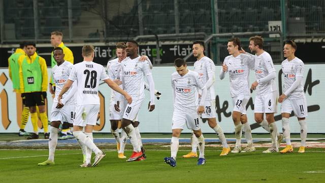 firo: 22.01.2021, Soccer: Soccer: 1st Bundesliga, season 2020/21 Borussia Monchengladbach, Gladbach - BVB, Borussia Dortmund