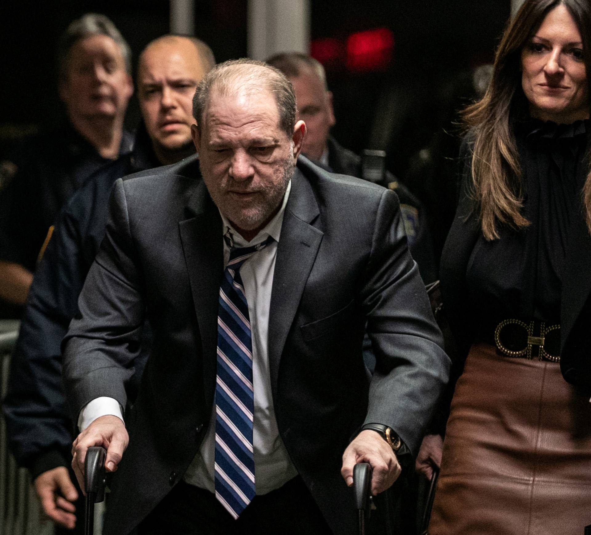 Film producer Harvey Weinstein leaves New York Criminal Court for his sexual assault trial in the Manhattan borough of New York City