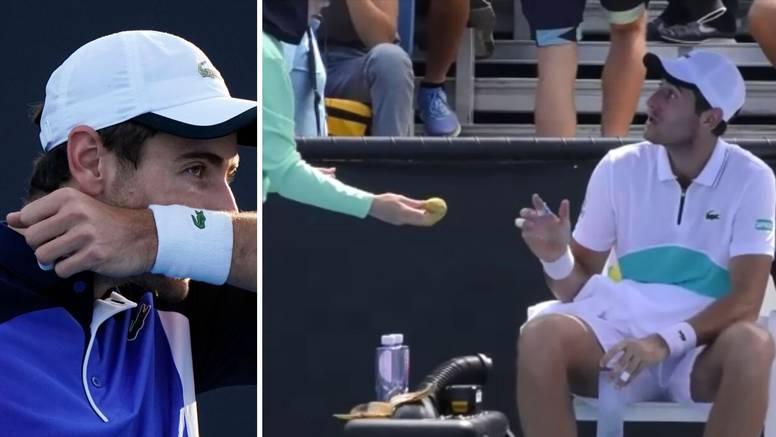 Objasnio bananu: Ma imao sam kremu na rukama zbog znoja...