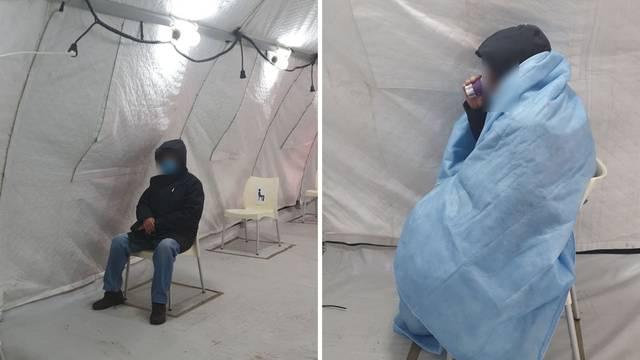 Zagreb: 'Tata mi  je s upalom pluća čekao satima u šatoru na hladnoći, bez grijanja ili deke'