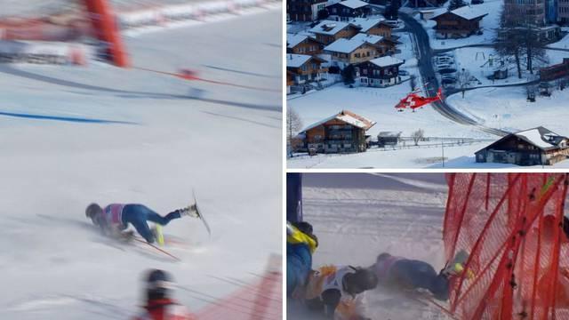 Težak pad američkog skijaša! Odletio je u zaštitnu ogradu i ostao nepomično ležati...