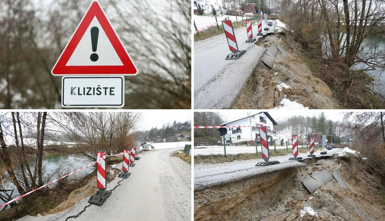 Odron kod Karlovca: Velik dio ceste 'preselio' u rijeku Dobru
