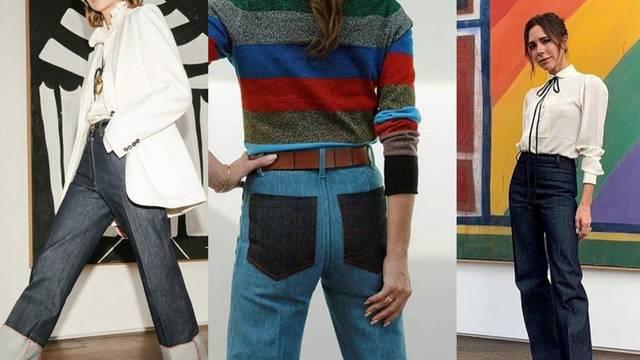 Victoria Beckham predlaže idealne traperice: Visokog struka, trapezaste i dugačke