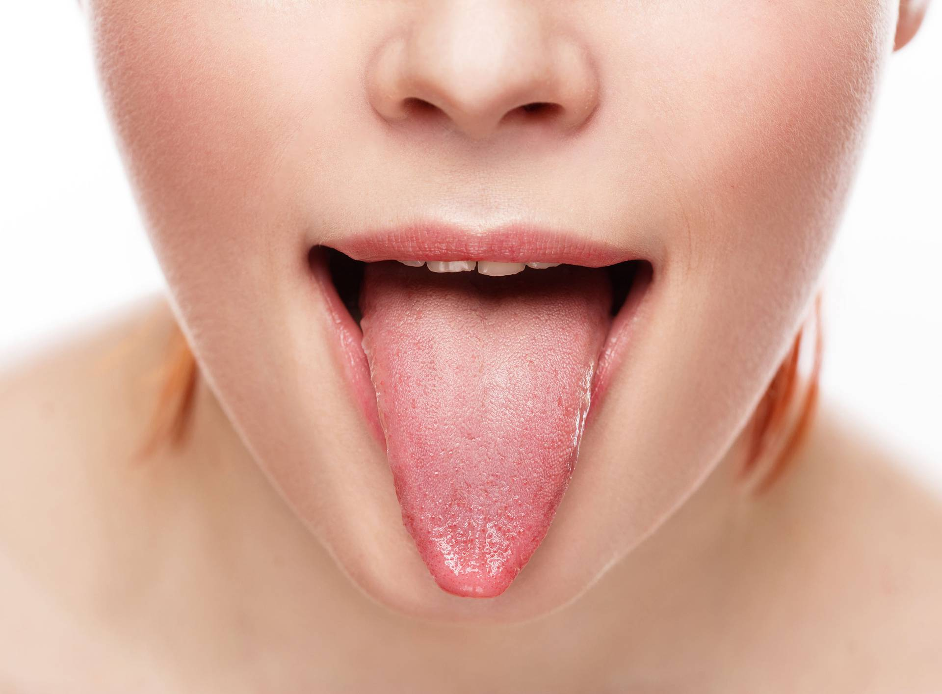 natural tongue open mouth