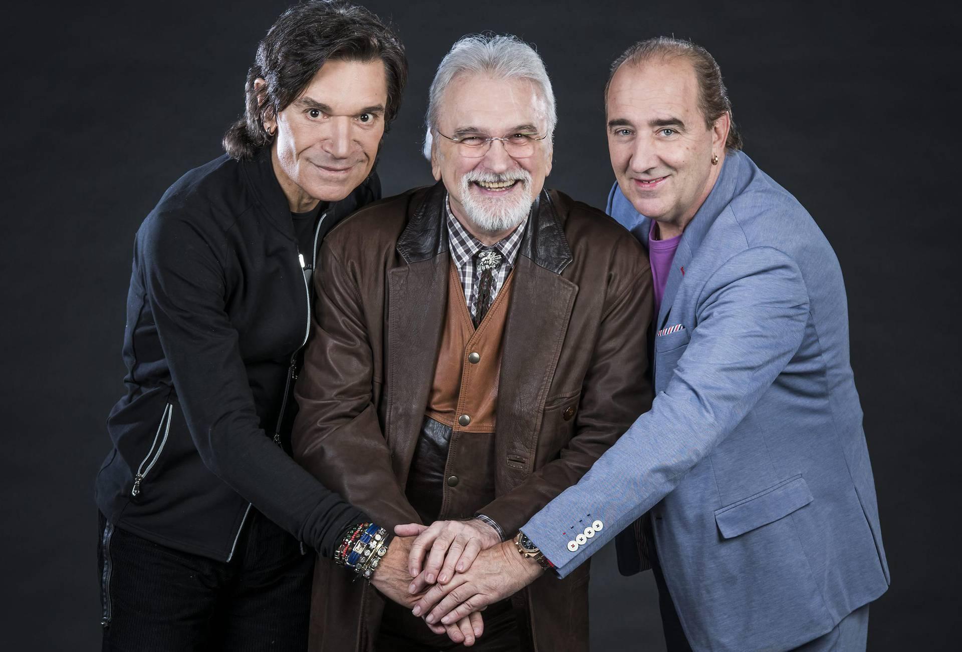Zagreb, 06.03.2017 - Pjevaci Mladen Grdovic, Jasmin Stavros i Zlatko Pejakovic