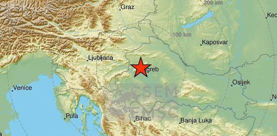 Opet se treslo: Kod Zagreba potres od 2.3 po Richteru...