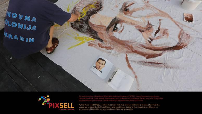 Umjetnici u Zadru za Gotovinu oslikavaju platna od 10 metara