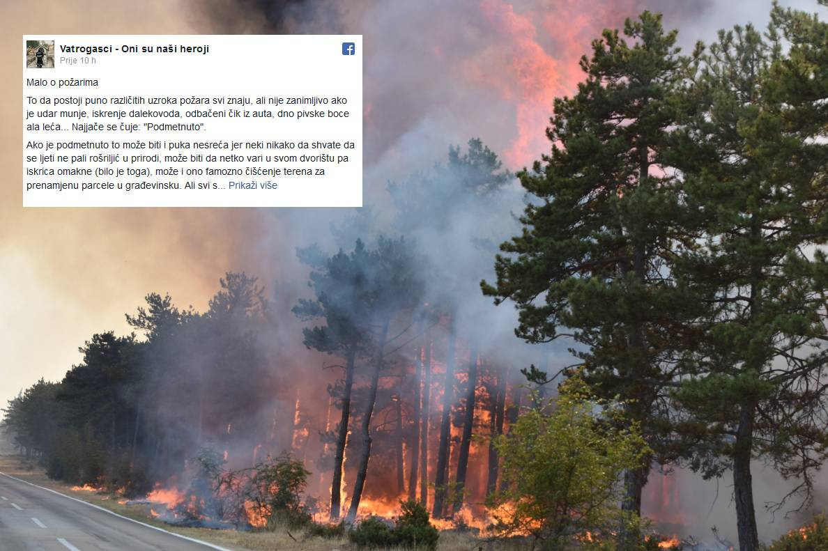 Status o požarima: 'Čuje se - podmetnuto, pa se viče - Srbi'