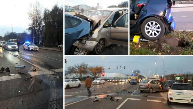Sudarila su se četiri auta: Ljudi su se držali za glavu i trbuh