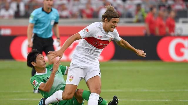 Soccer 2. Bundesliga / VFB Stuttgart-Hanover 96 2-1.
