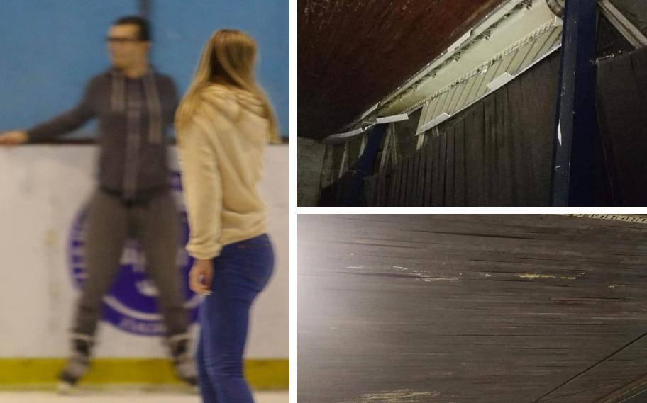 'Klizalište Velesajam je opasno, otpadaju čak i dijelovi stropa...'