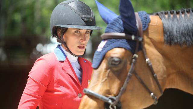 JESSICA SPRINGSTEEN IN PIAZZA DI SIENA COMPETITION IN ROME, ITALY - 30 MAY 2021