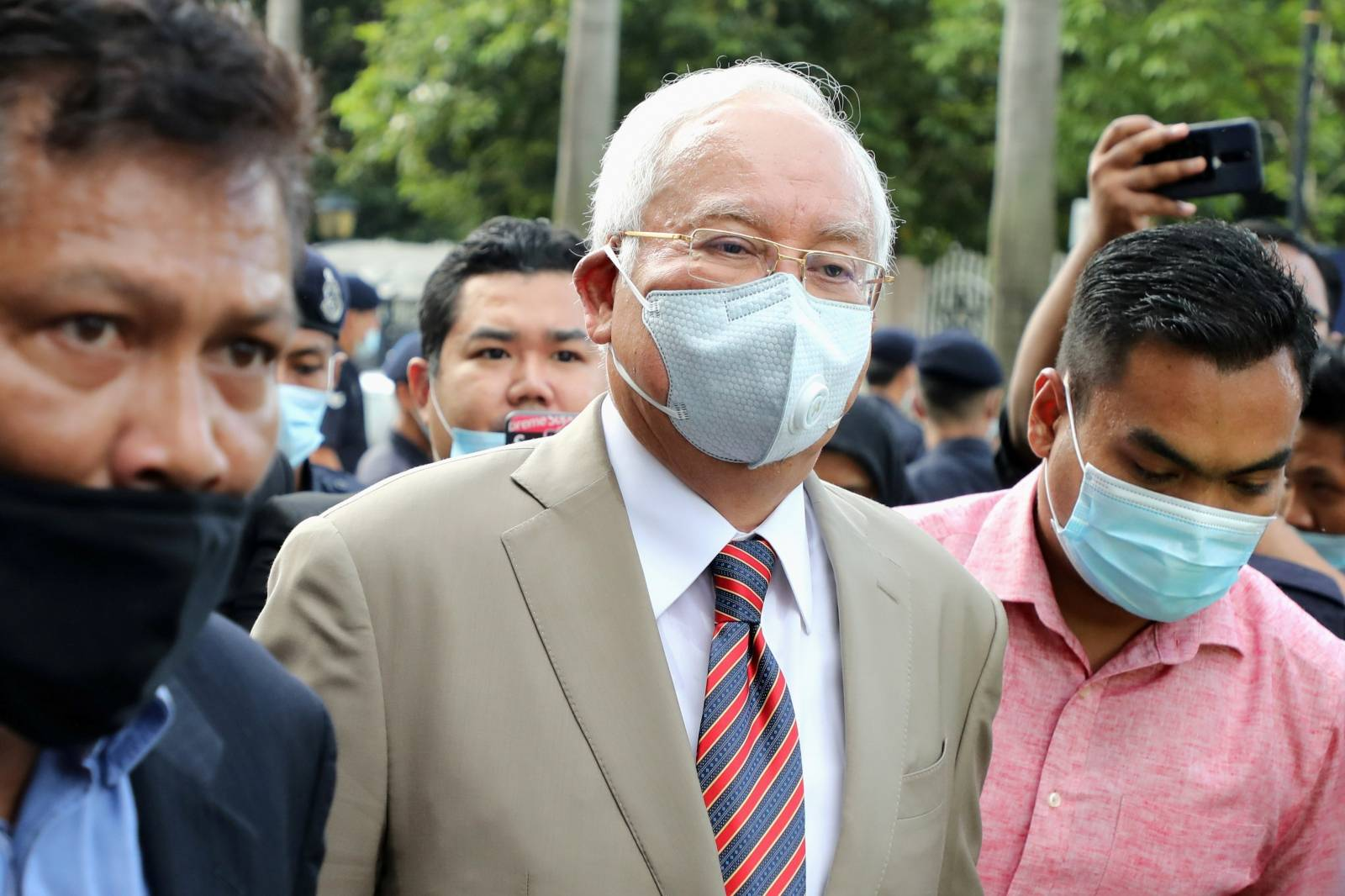 Former Malaysian Prime Minister Najib Razak arrives at Kuala Lumpur High Court in Kuala Lumpur
