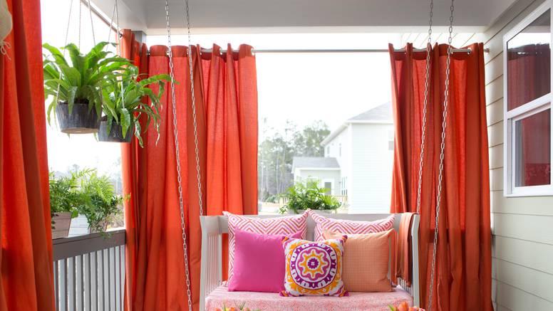 Viseće tegle za cvijeće i zastori - najjeftinije preuređenje doma