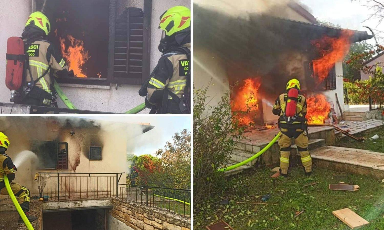 Nakon eksplozije plina planula kuća, podstanar se uspio spasiti