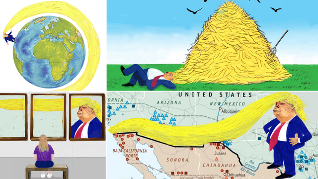 Splićanin oduševio Trumpovim karikaturama: 'Genijalan si...'