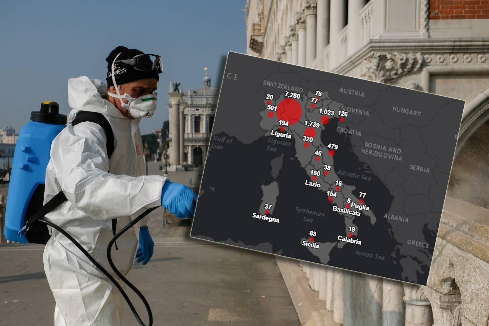 Grafikon korone u Italiji: Evo kako se kreće broj  zaraženih
