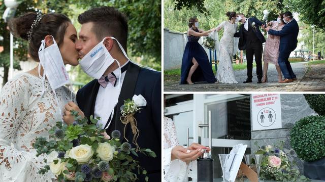 Požeška svadba: Djeveruša je mjerila temperaturu, mladenci i bližnji nosili posebne maske