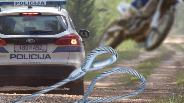 Misteriozna smrt motociklista  kod Rijeke: Netko mu je u šumi na stazu postavio sajlu?!