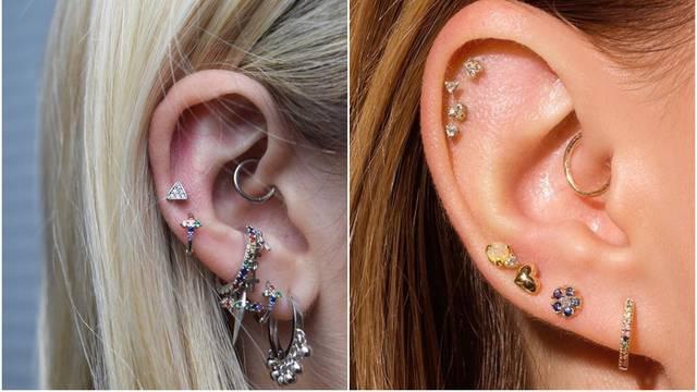Ovogodišnji trendovi: Piercing na ušima u svim varijantama