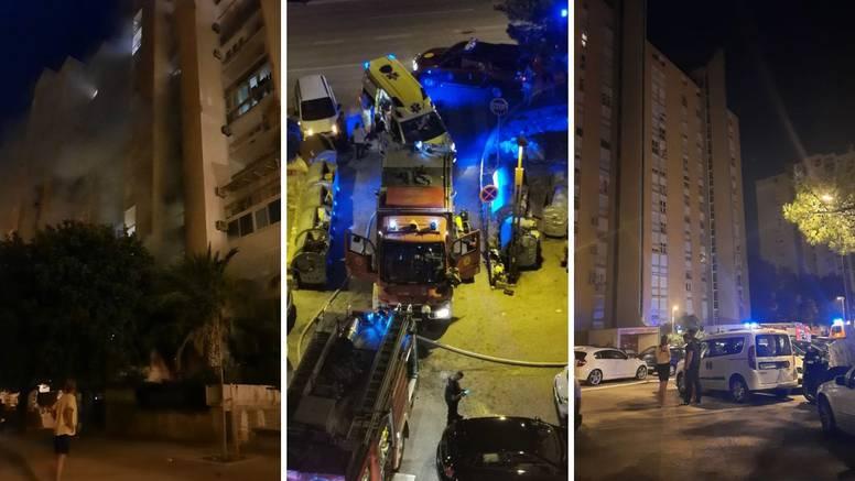 Buktinja u Splitu: Potpuno je izgorio stan, evakuirali stanare