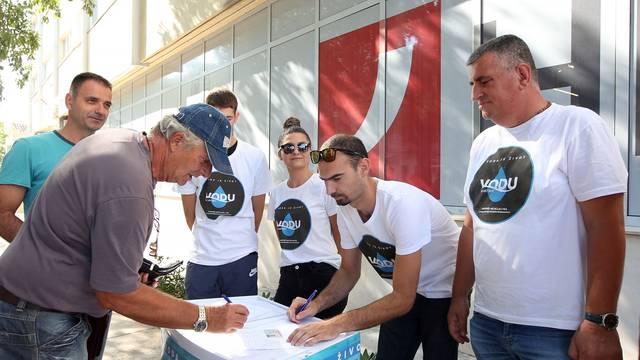 Šibenik: Prikupljenje potpisa za saborsku inicijativu Mosta da se Ustavom zaštiti voda
