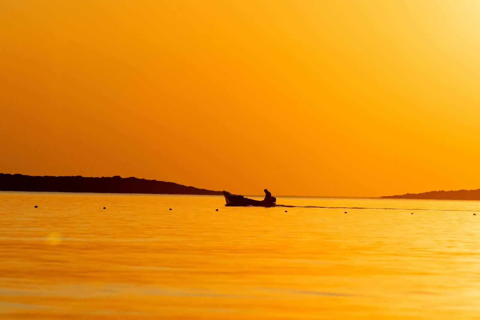 Zalazak sunca u Fažanskom kanalu